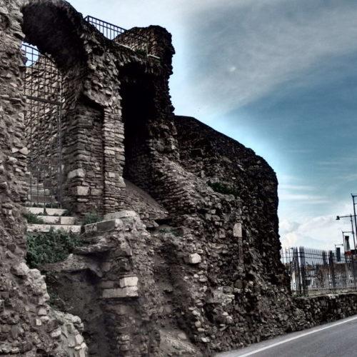Ancient roman walls in Civitavecchia