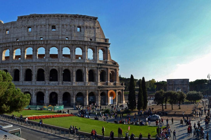 The Colosseum, The Palatine Hill and The Roman Forum